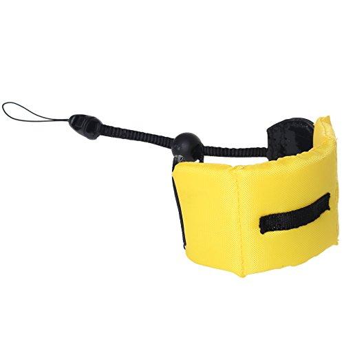 Preisvergleich Produktbild ofoen Kamera Trageschlaufe, wasserdichte Kamera schwimmende Hand Grip Stabilität und Sicherheit KOMPAKT GoPro Kameras gelb