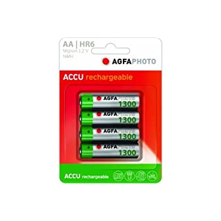AgfaPhoto Ready To Use Rechargeable AA 1300 mAh - 4 Pack
