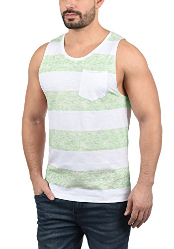 Blend 20706887ME Viva Herren Tank-Top Muskelshirt Fitness-Shirt mit Rundhals-Ausschnitt aus 100% Baumwolle, Größe:XL, Farbe:Foam Green (77206) -