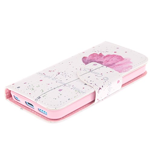 MOONCASE iPhone 5C Coque, Printing Series Case Étui en Cuir Portefeuille Housse de Protection Etui à rabat Cover pour Apple iPhone 5C TX14 TX06 #0401