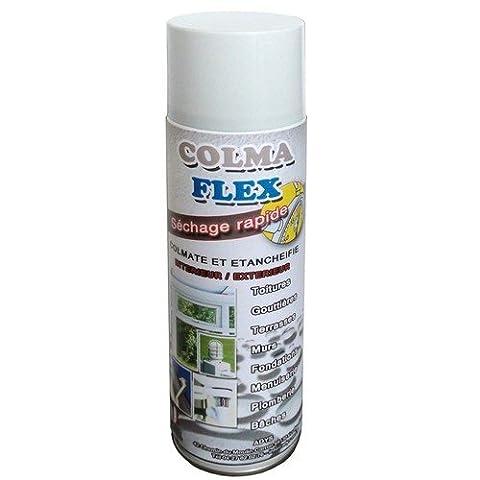 Spray colmateur bitumeux d'étanchéité toiture blanc 500 ml REF 320630