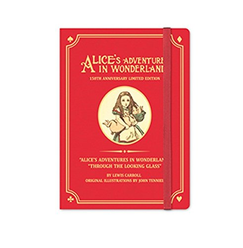 Alice's Adventures in Wonderland 150th Anniversary Limited Edition 2018 Diary, Organizer, Planner - Undated Perpetual Annual Weekly Planner Journal scheduler Datebook Made in Korea (Original (Red))
