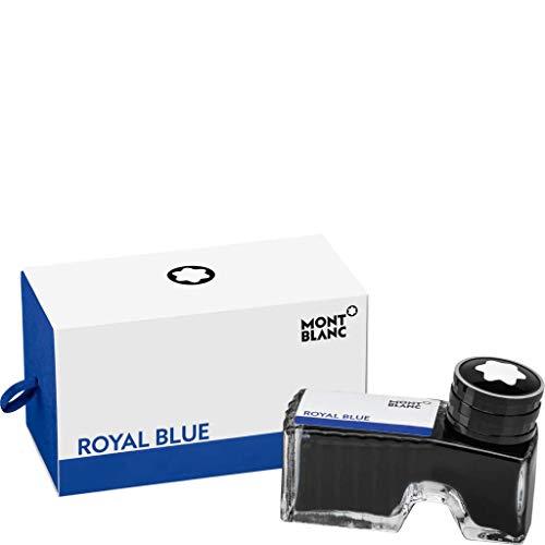 Montblanc Tintenfass Royal Blue 105192 - Hochwertige Tinte in Königsblau im Tintenglas 60ml
