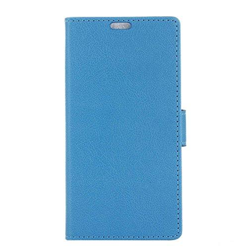 Hülle Doogee X60L, Ledertasche Ultra Dünn [Magnetverschluss] Kartenfach Tasche PU Leder Klapphülle Wallet Handyhülle mit Standfunktion Flip Schutzhülle Schale Blue