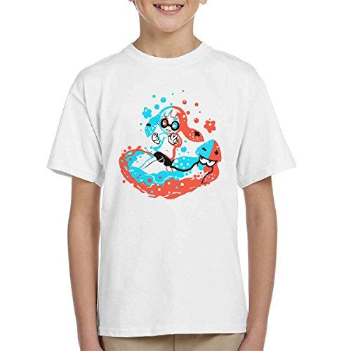 Paint With Neon Splatoon 2 Kid's T-Shirt