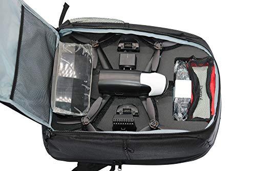 Dkings Parrot Bebop 2 Power FPV Drohne Tasche Rucksack Tragbare verstellbare Träger Schulter Tasche für Outdoor und Travel - Für Parrot Bebop 2 + FPV Tragbare Schulter Tasche(Schwarz)
