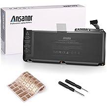 """Ansanor 6000mAh qualità sostituzione della batteria del computer portatile per Apple MacBook Unibody 13"""" A1331 A1342 (Late 2009 Mid 2010) + copertura della tastiera (garanzia di 24 mesi 10.95V 6000mAh) A1331"""