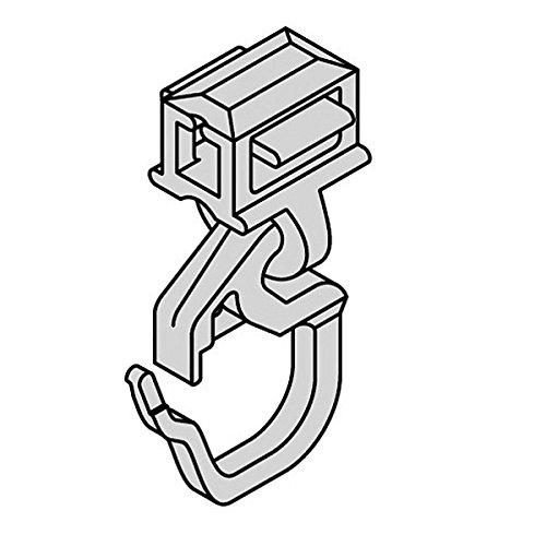 Gardinen Clic-Gleiter mit Faltenhaken Kurz HINNO HC 31, für Aluminium Gardinenschienen mit 6 mm Spurbreite