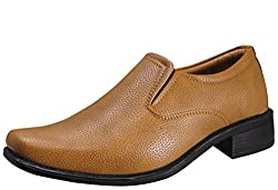 Action Synergy Mens Formal Shoes Tan RYD14438