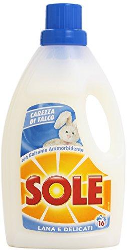 Sole Lana e Delicati Detersivo Lavatrice Liquido, Carezza di Talco, 16 Lavaggi