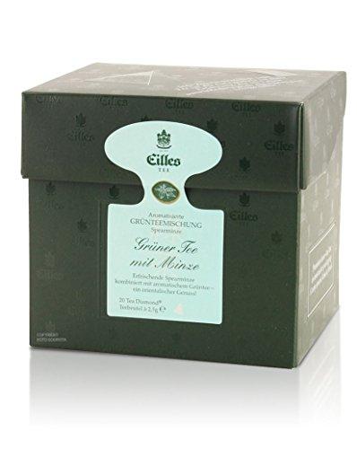 EILLES Tea Diamonds Grüner Tee mit Minze, 20 Pyramidenbeutel