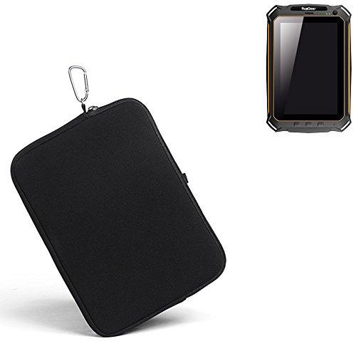 K-S-Trade® für Ruggear RG900 Neopren Hülle Schutzhülle Neoprenhülle Tablethülle Tabletcase Tablet Schutz Gürtel Tasche Case Sleeve Business schwarz für Ruggear RG900
