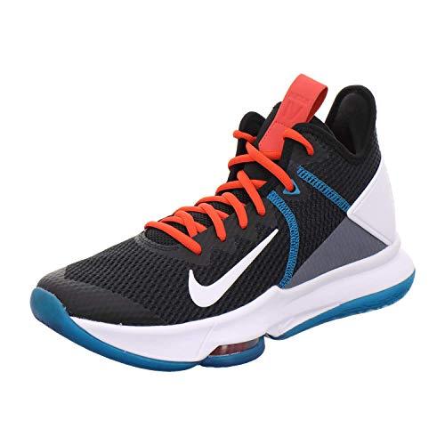 Nike Mens Lebron Witness IV Basketball Shoe, Black/White-Chile Red-Glass Blue, 43 EU