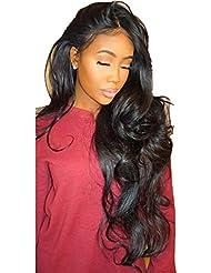 ❤️LILICAT Urly Perruque Glueless Full Lace Perruques Noir Femmes Indien Remy Cheveux Humains Lace Front Femmes Cosplay Classics Dentelle Chimique Fiber