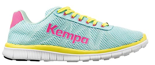 Kempa K-Float, Chaussures de Handball Femme Turquoise (Turquoise/Jaune Spring)
