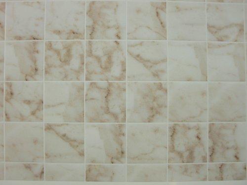 Handley House Puppenhaus Miniatur 1:12 Badezimmer Küche Bodenbelag weiße Marmor fliesen-blatt