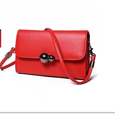 SUNNY KEY-Borsa a tracolla @ Donna Borsa a tracolla PU (Poliuretano) Per tutte le stagioni Casual Cerniera Rosso Grigio Fucsia , red red