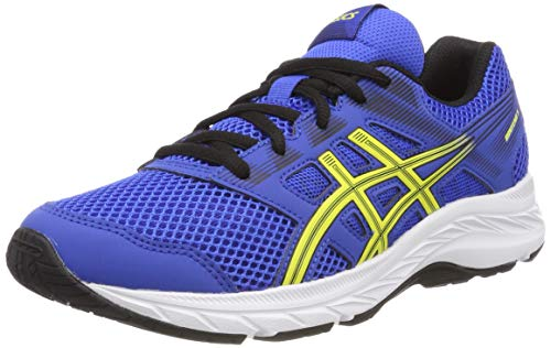 ASICS Unisex-Kinder Contend 5 GS Laufschuhe, Blau (Illusion Blue/Lemon Spark 401), 39 EU