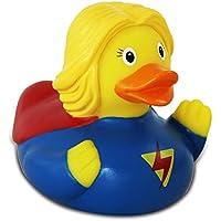 Lilalu pato de goma pato del baño flotante pato pato recoger de Halloween corona superhéroe: Tipo: Pato Superwoman