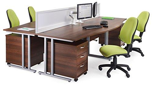 Büro Elefant oe05-r3mw Drei Schublade Mobile Ständer mit drei Flache Schubfächer die die
