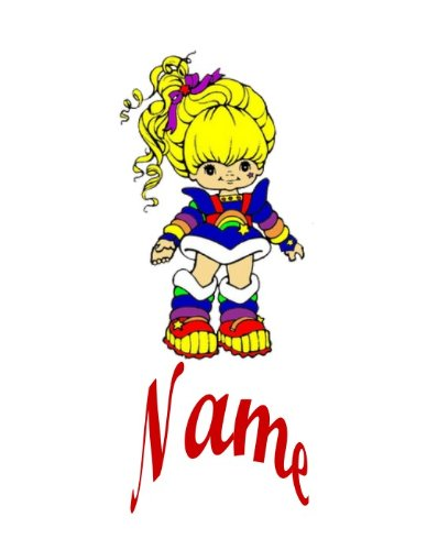 rainbow-brite-iron-on-transfer-with-personal-name-plus-1-small-transfer-free-for-practising-for-ligh