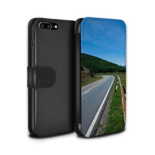 STUFF4 PU-Leder Hülle/Case/Tasche/Cover für Apple iPhone 7 Plus / Tal Muster / Schottisch Landschaft Kollektion Straße