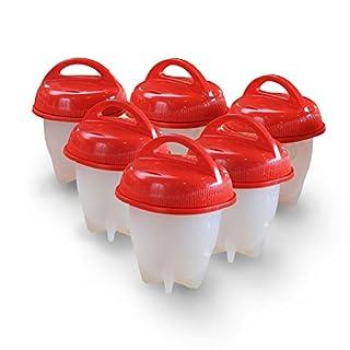 AS SEEN ON TV: Eierkocher Hard & Soft Maker, BPA-frei, antihaftbeschichtetes Silikon, keine Schale, Silikon Eier Maker ohne die Shell (6Pack)