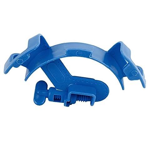 Sourcingmap Plastique Aquarium Mont Tuyau support de tuyau de filtration, Bleu