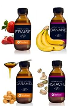 Néroliane LOT 4 AROMES NATURELS Fraise-Banane-Caramel-Pistache