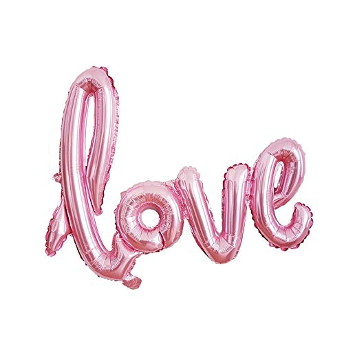 - Rose Gold Love Balloons Wedding Decoration Big Giant Inflatable Balls Balloon Air Valentine Day Home - Letter Keffiyeh Balloon No D Of Helium Sequin Mechanical Birthday Gian ()