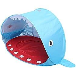 Lacyie Tente et cabane pour Enfants en Forme de Requin de Plage, cabane intérieure/extérieure pour garçons et Filles, Tente Anti-UV portative de Protection UV pour Piscine