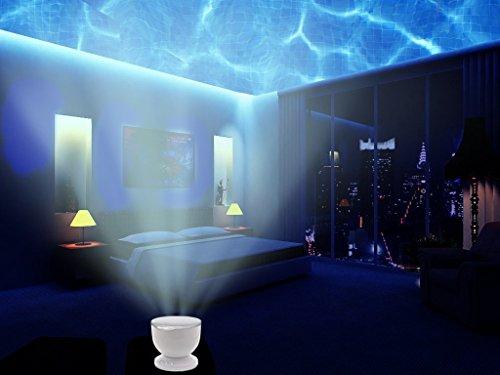 Aidle Lámpara de Proyector, Bright LED Ocean Wave Light Projector Romántico Océano Relajarse Proyector...