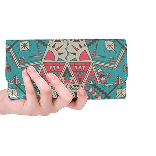 Einzigartige benutzerdefinierte abstrakte Frauen Trifold Brieftasche Lange Geldbörse Kreditkarteninhaber Fall Handtasche