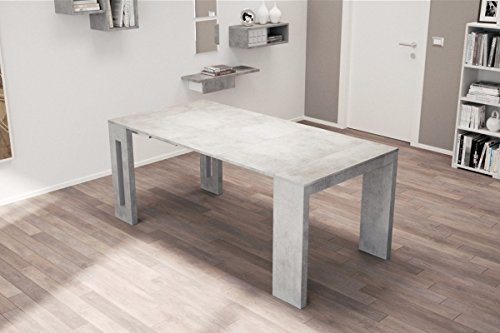 Affordable ROMA – Italian Made Extending Dining Table / Computer Desk / Console in Beautiful 'Cemento' (Grey) Finish Review
