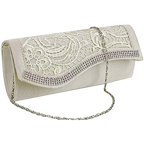 Tina Women's Fashion Lace Evening Party Clutch Prom Handbag With Crystal - Sposa Sposa Borsa Borsa