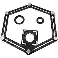 Seis caras-práctica de múltiples ángulos Regla multifuncional de aleación de aluminio Angleizer Modelo herramienta robusta magia ángulo Modelos Regla