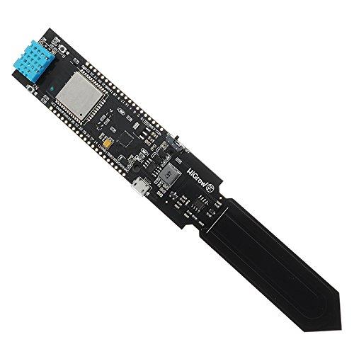 ILS - Higrow ESP32 WiFi + Bluetooth Batterie + DHT11 Bodentemperatur und Feuchte-Sensor-Modul Feuchte-sensoren