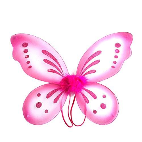 Miyanuby Kinder Mädchen Schmetterling Flügel Prinzessin Engel Halloween -