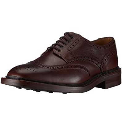 Loake Badminton, Men's Brogue Shoes - Dark Brown, 40 EU