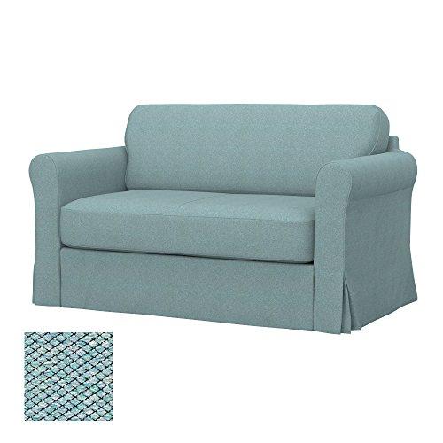 Soferia - IKEA HAGALUND Funda para sofá Cama, Nordic Sea Green