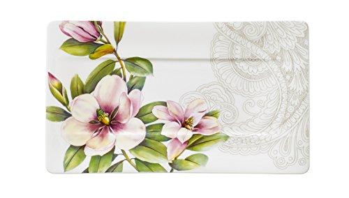 Villeroy & Boch 10-4380-2582 Assiette de Service Porcelaine Rose 29 x 16,5 x 8,3 cm