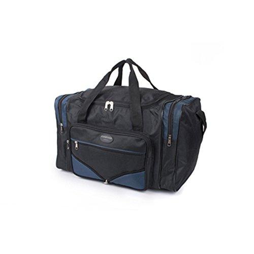 Friendz Trendz-Zwei Seitenfächer und zwei Taschen Reißverschluss holdall Taschen (BLACK PINK) BLACK NAVY