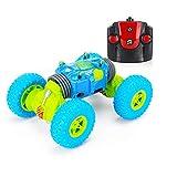 Nlatas Coche de Control Remoto Off-Road Escala 1:16 4WD 2.4GHz Coche de Carreras Eléctrico Coche RC Buggy Crawler Toy Car para Adultos y Niños,Blue