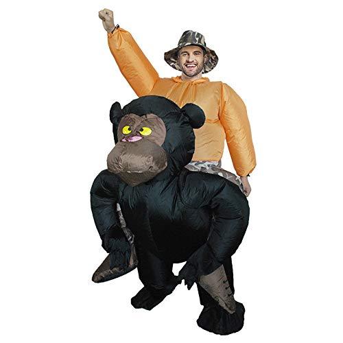 Männer Kostüm Kreative - TIKENBST Schimpanse Rücken Mann Reiten Aufblasbare Kleidung Kreative Kleidung Party Party Requisiten Tierkleidung Aufblasbare Kleidung