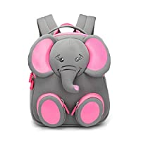 "Nikizoo Toddler Backpack with Safety Harness and Leash 3D Zoo Cute Backpack Anti-Lost 10"" Kids Preschool Baby Bag"