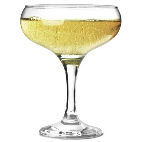 Bistro - Juego de 12 platos de champán (275 ml), diseño de copas de champán de 27,5 cl, elegantes y asequibles