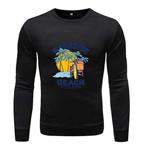 Realde Herren Langarm-Pullover Classics Mode 3D Tierdruck Rundhalsausschnitt Tops Youth Männer Herbst und Winter Lang Geschnittenes T-Shirt Sport Yoga Atmungsaktiv Bluse Zoo York-core