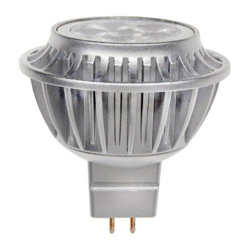 LEDs Change The World LED Spot DIMMBAR GU5.3 MR16 12V AC/DC 6,3Watt echtes warmweiß 2700K silber lackiertes Alu-Gehäuse ersetzt mindestens 35Watt Halogen mit Nichia LEDs