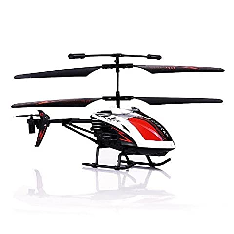 RC Flugzeug, 3.5 Kanal robuster Flugzeug Spielzeug Ferngesteuert mit Gyro-Technik und LED-Licht für Indoor Outdoor, Ready to Fly Modell