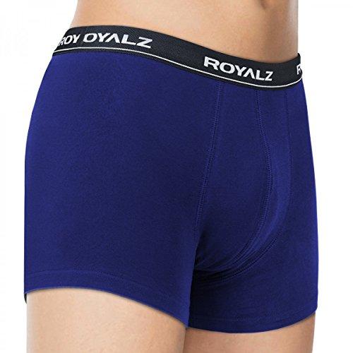 ROYALZ Boxershorts (10 Stück) Herren Unterwäsche Set Unterhosen 95% Baumwolle 5% Elasthan Blau